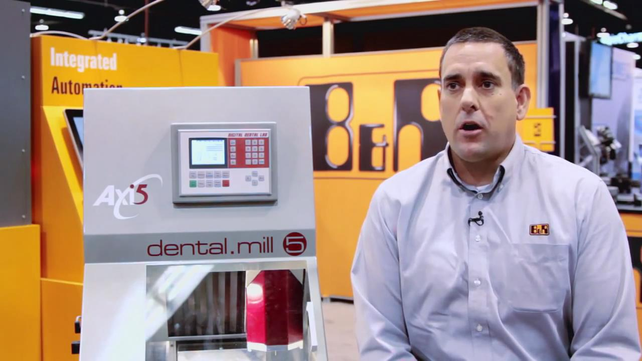 Automated by B&R - Servo-smooth stepper motion on Digital Dental Lab dental Milling