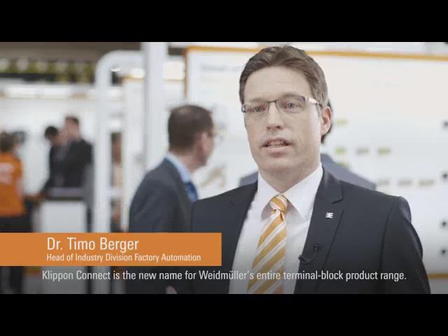 魏德米勒2016汉诺威工业博览会视频集锦-Klippon Connect发布